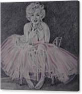 Marilyn In Pink Canvas Print