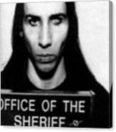 Marilyn Manson Mug Shot Vertical Canvas Print