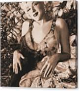 Marilyn Monroe 126 A 'sepia' Canvas Print