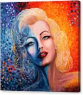 Marilyn Monroe Original Acrylic Palette Knife Painting Canvas Print