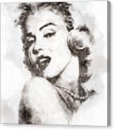 Marilyn Monroe Portrait 01 Canvas Print