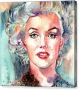 Marilyn Monroe Portrait Canvas Print