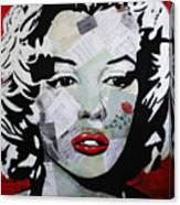 Marilyn Monroe Red Flower Canvas Print