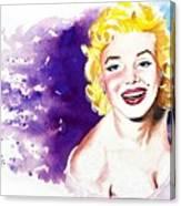 Marilyn Monroe Sunny Canvas Print