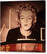 Marilyn Over The Red Carpet Canvas Print
