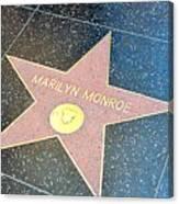 Marilyn's Star Canvas Print