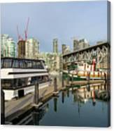 Marina At Granville Island In Vancouver Bc Canvas Print