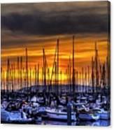 Marina At Sunset Canvas Print