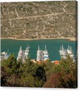 Marina In Cres Canvas Print
