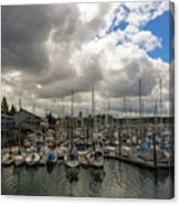 Marina In Olympia Washington Waterfront Canvas Print