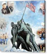 Marine Corps Art Academy Commemoration Oil Painting By Todd Krasovetz Canvas Print