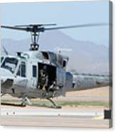 Marine Corps Bell Uh-1n Huey Buno 158559 Mesa Gateway Airport Arizona March 11 2011 Canvas Print