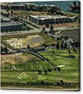 Mariners Point Golf Center In Foster City, California Aerial Photo Canvas Print