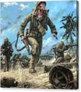 Marines In The Pacific Canvas Print