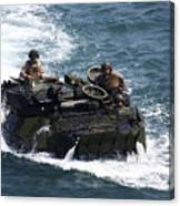 Marines Operate An Amphibious Assault Canvas Print