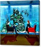 Marinelife Observing Couple Sitting In Chairs Canvas Print