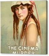 Marion Davies In The Cinema Murder 1919 Canvas Print