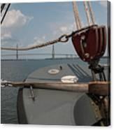 Maritime Bridge View Canvas Print