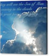 Mark 13 26 Canvas Print