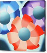 Mark Webster - Abstract Futurist Flowers 2 Oil Painting  Canvas Print