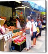 Market At Bensonhurst Brooklyn Ny 1 Canvas Print