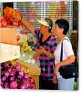 Market At Bensonhurst Brooklyn Ny 2 Canvas Print