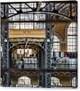Market Bars And Windows Canvas Print