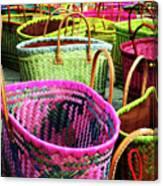 Market Baskets - Libourne Canvas Print