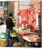 Market Butchery Hong Kong Canvas Print