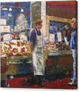 Market Conversation Canvas Print
