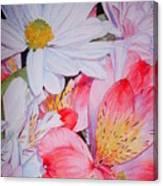 Market Flowers - Watercolor Canvas Print