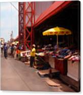 Market Georgetown Guyana Canvas Print