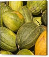 Market Melons Canvas Print