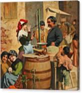 Market Scene In Trieste Canvas Print