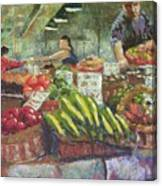 Market Stacker Canvas Print