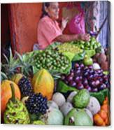 market stall in Nicaragua Canvas Print