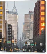 Market Street Philadelphia - In The Morning Canvas Print