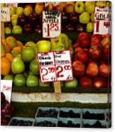 Marketplace Fruit Canvas Print