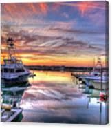 Marlin Quay Marina At Sunset Canvas Print