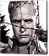 Marlon Brando As Lt. Diestl Publicity Photo The Young Lions 1958 Color Added 2016 Canvas Print