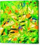 Orange Green Canvas Print