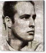 Marlon Brando, Vintage Actor Canvas Print