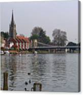Marlow By The River Thames Canvas Print