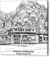 Marlows Market Canvas Print
