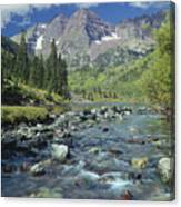 210404-maroon Bells And Creek  Canvas Print