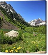 Maroon Bells In Summer 2 Canvas Print