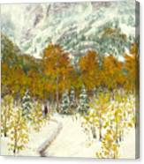 Maroon Bells-snowmass Wilderness Trek Canvas Print