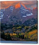 Maroon Bells Sunrise Canvas Print