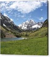 Maroon Bells Trail Panorama Canvas Print