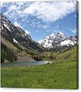 Maroon Bells Wilderness Panorama Canvas Print